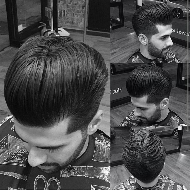 pompadour haircut