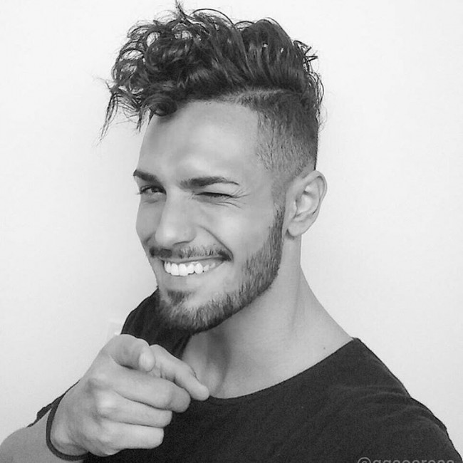 mens undercut hair style curly hair undercut 3276