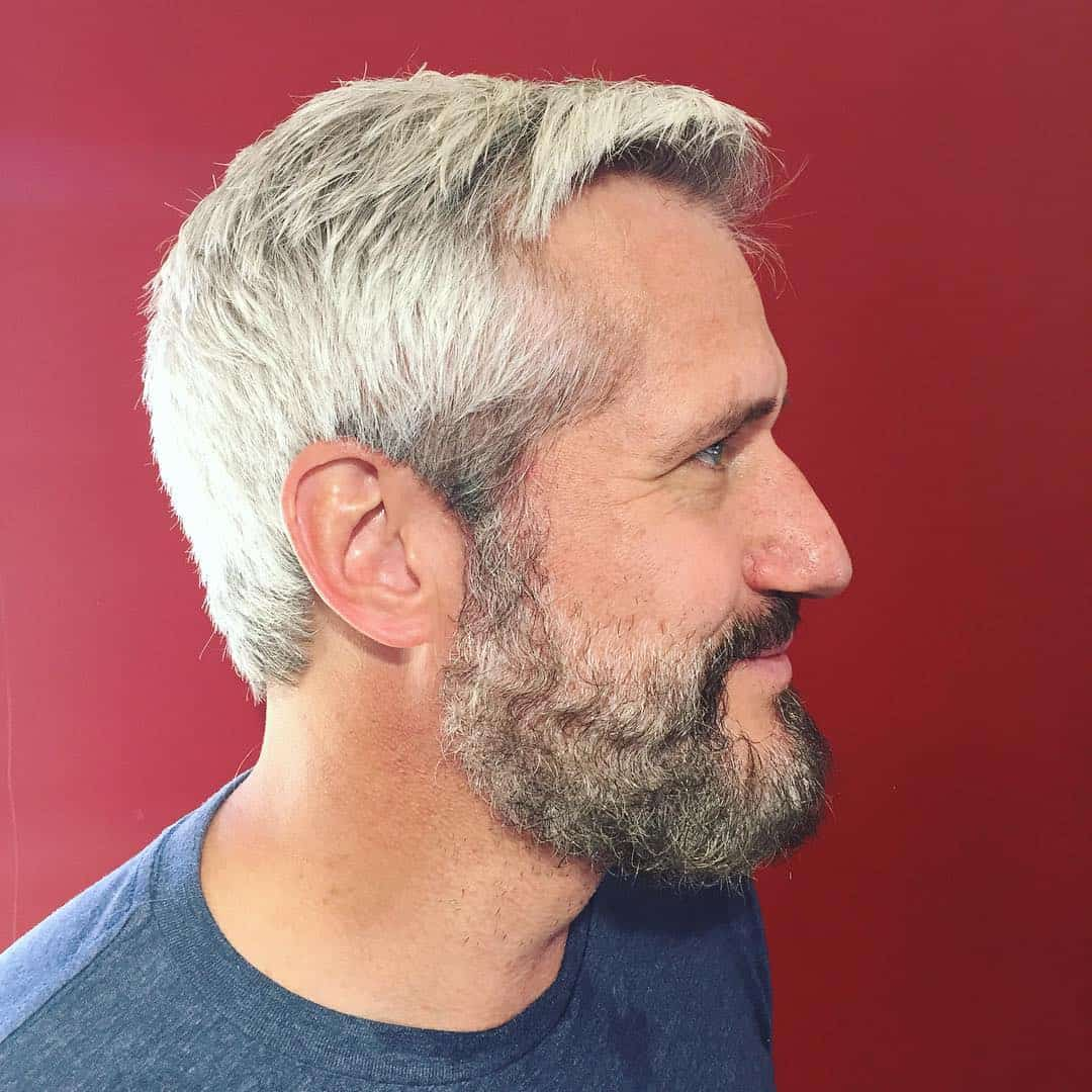 Color hair for men?s grey hair recommendations dress in summer in 2019