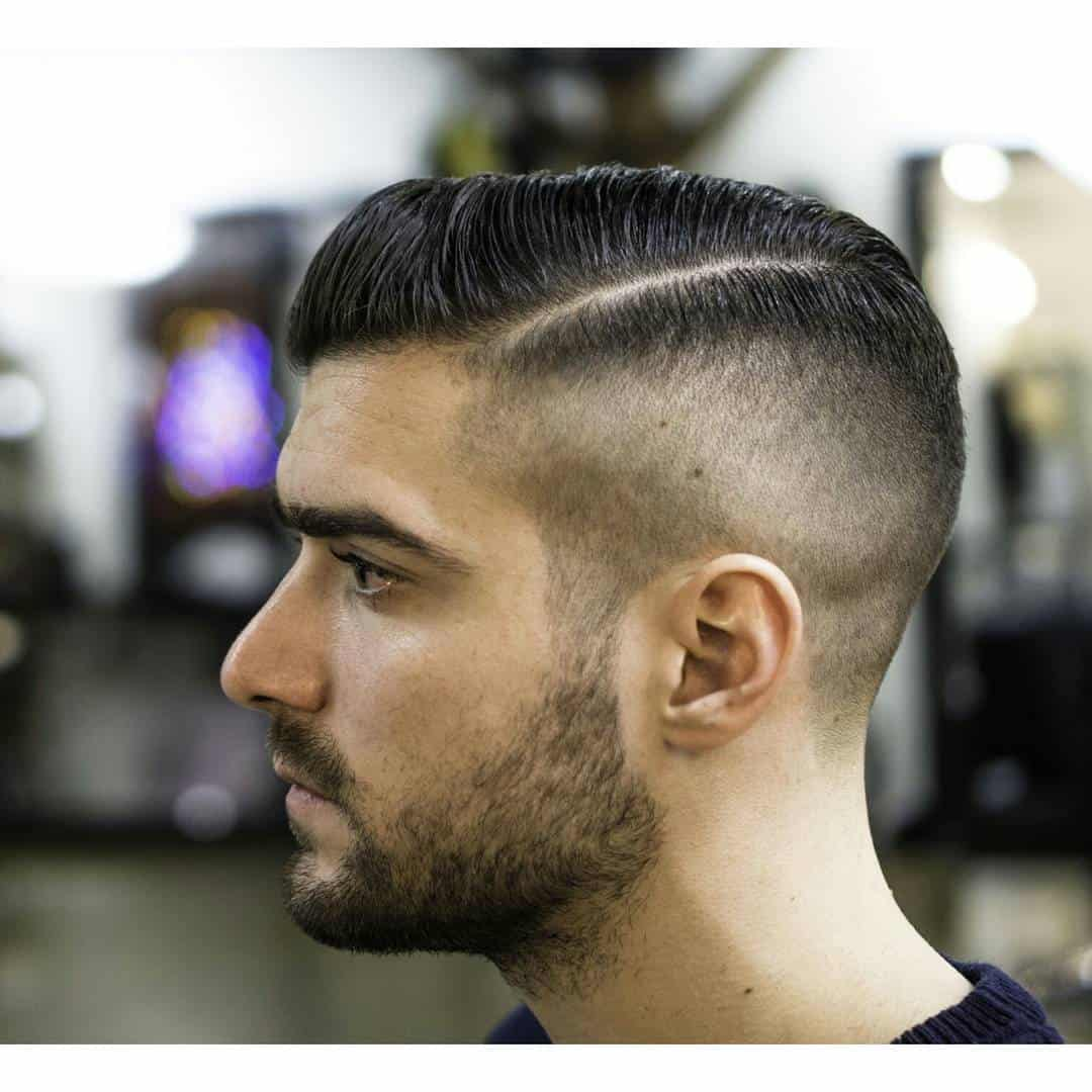 mens haircuts long face 60 best haircuts for faces be unique in 2019 3421 | Half Side Part