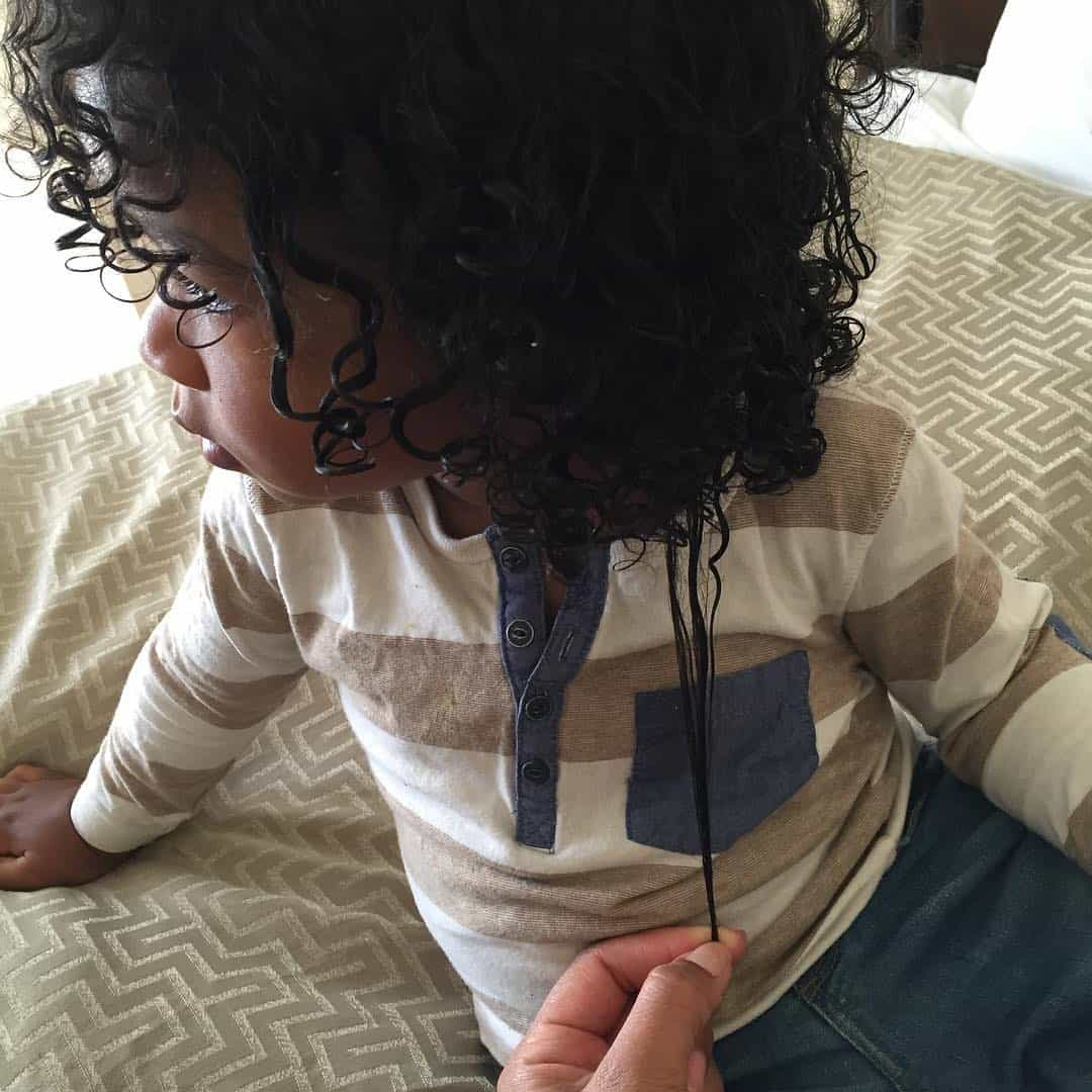 Long Black Curls