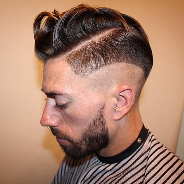 Messy High Top with Short Beard