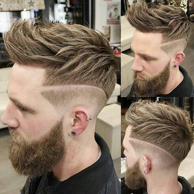 Quiff with Side Designs