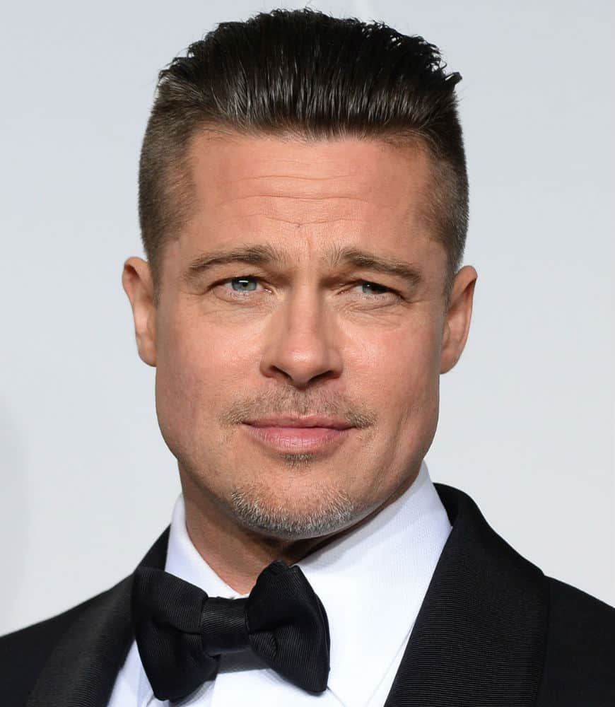 Brad Pitt Short Straight Casual Hairstyle - Blonde Hair Color