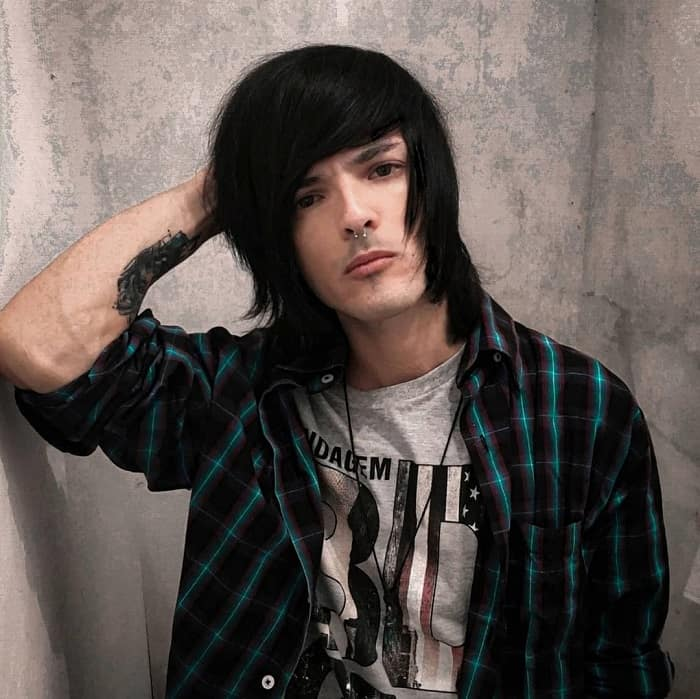 shaggy hairstyles for emo guys