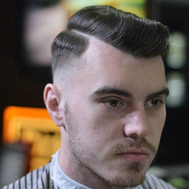 6 Side Swept With A Base Hair. Military Haircut
