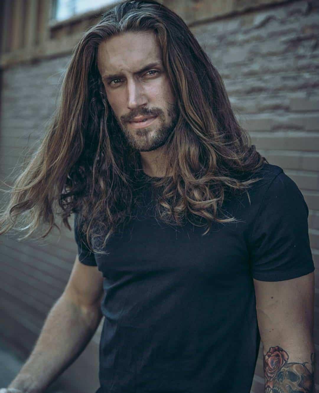 Wavy Long Curly Hairstyles Men 83