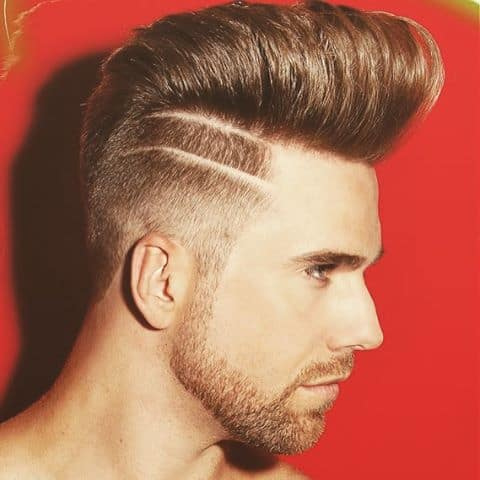 Faux Hawk with Line Part