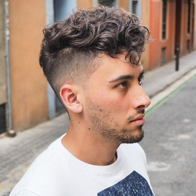 Messy Curls with a Fade