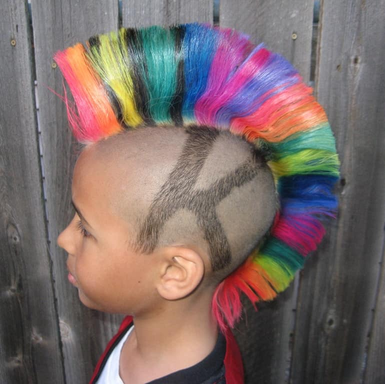 Rainbow Colored Hair
