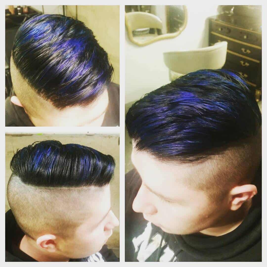 Side Sweep with Blue Highlights