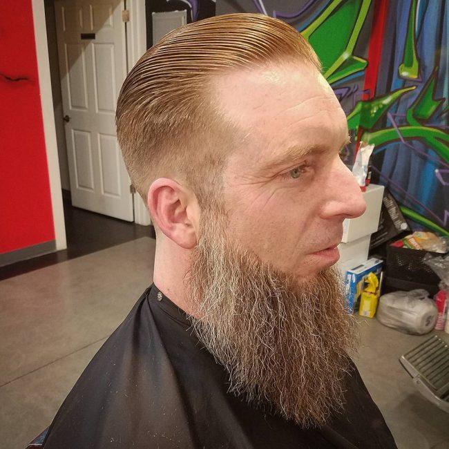 Slicked Back Hair 47
