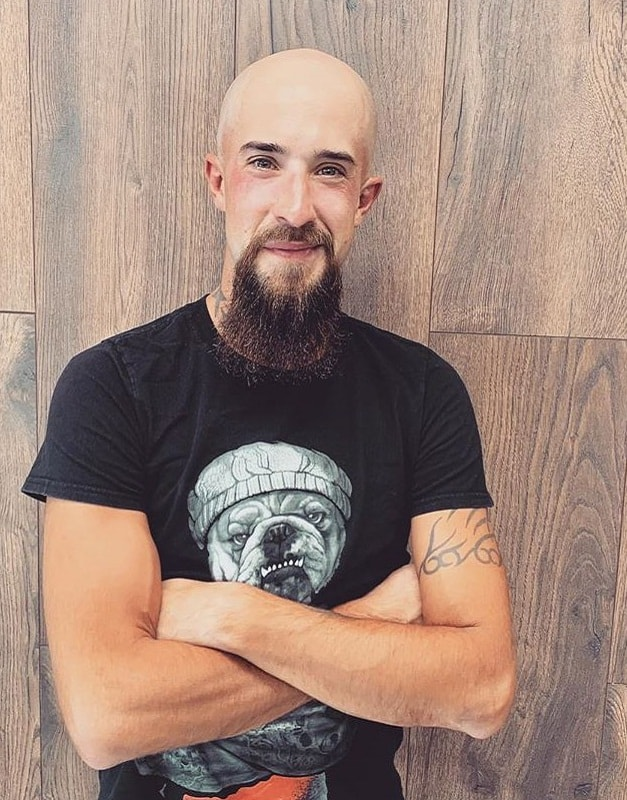 bald head with beard