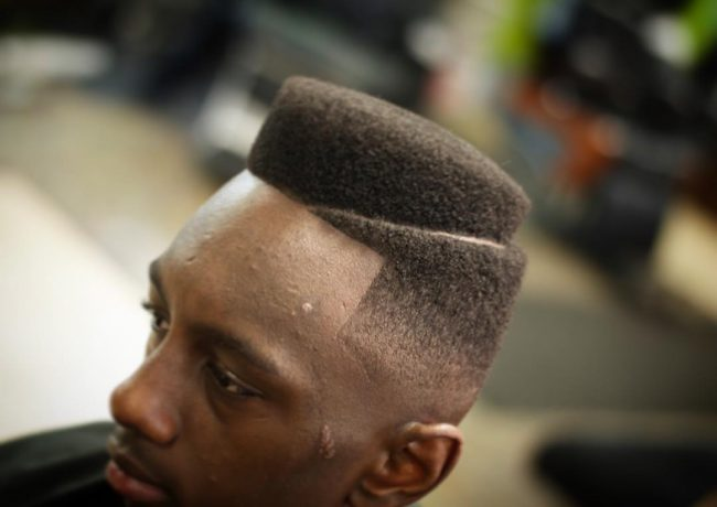 Black Faded Flat Top