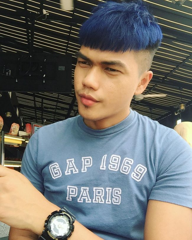 Black and Blue with Bold Undercut
