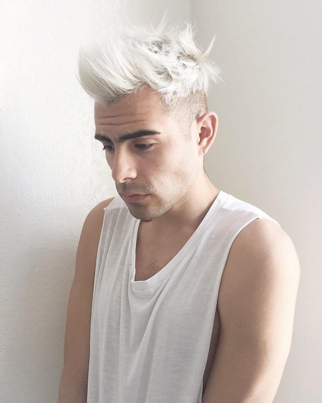 Bleached White with Quiff