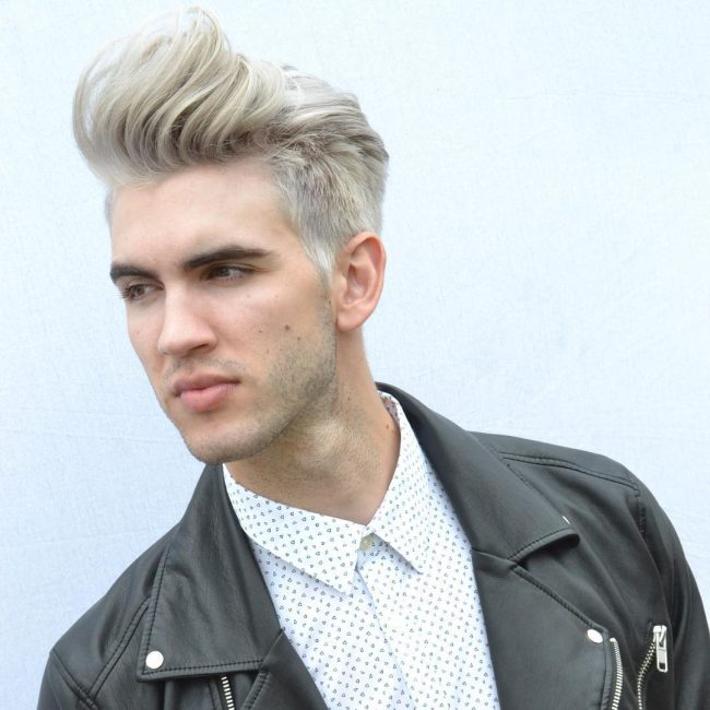 Blonde Pompadour for Asian Hair