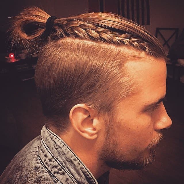 Blonde Top Knot with Braid