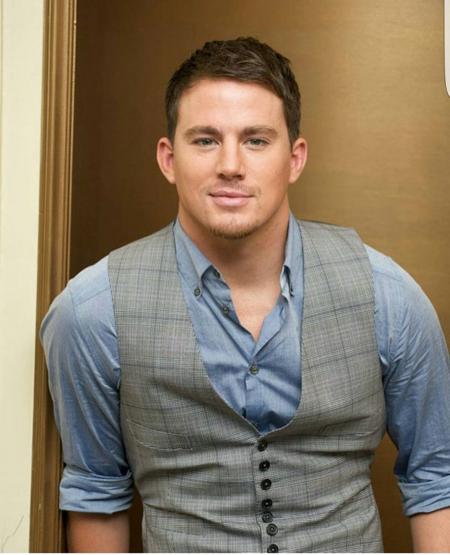Channing Tatum with Prep School Look