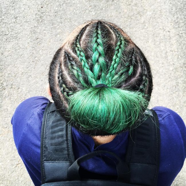 Colored and Braided Bun