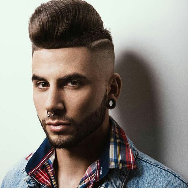 Elegant Pompadour with a Modern Touch