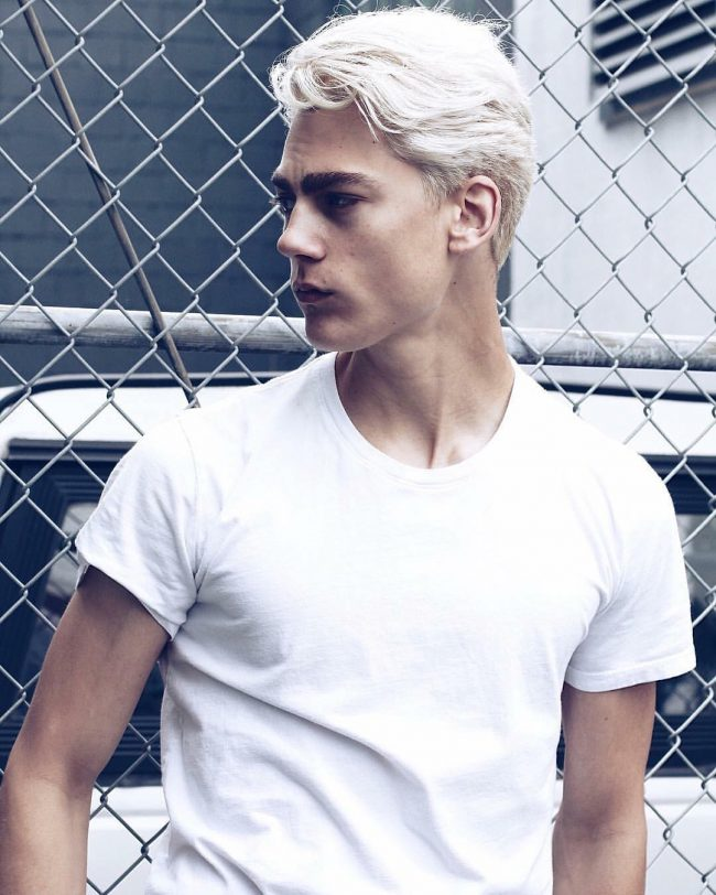 Platinum Blonde Top for Light Base and Sides
