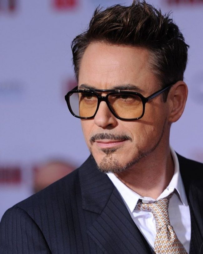 Robert Downey Jr. in Hip Chestnut Hue