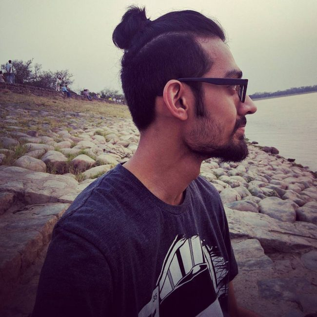 Sable Brown Man Bun