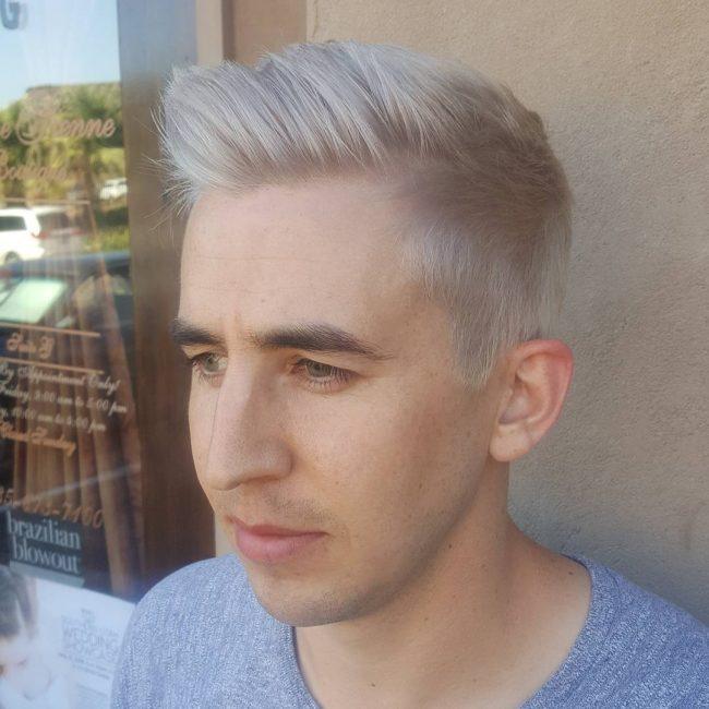 Silver Blonde Pompadour