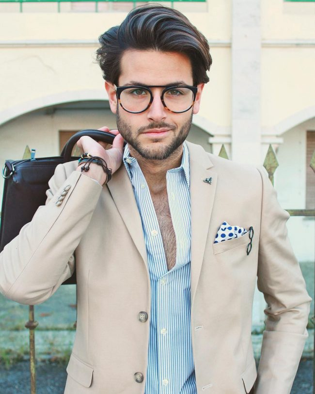 Smoothly Brushed Hipster Hairstyle