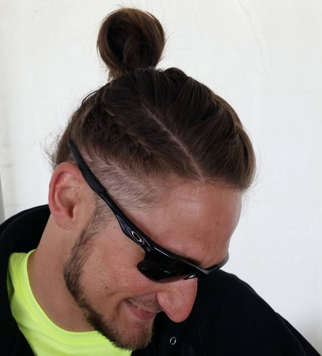 Sorrel Top Knot with French Braid
