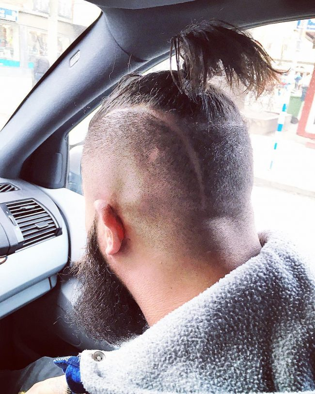 Spiky Top Knot with Undercut