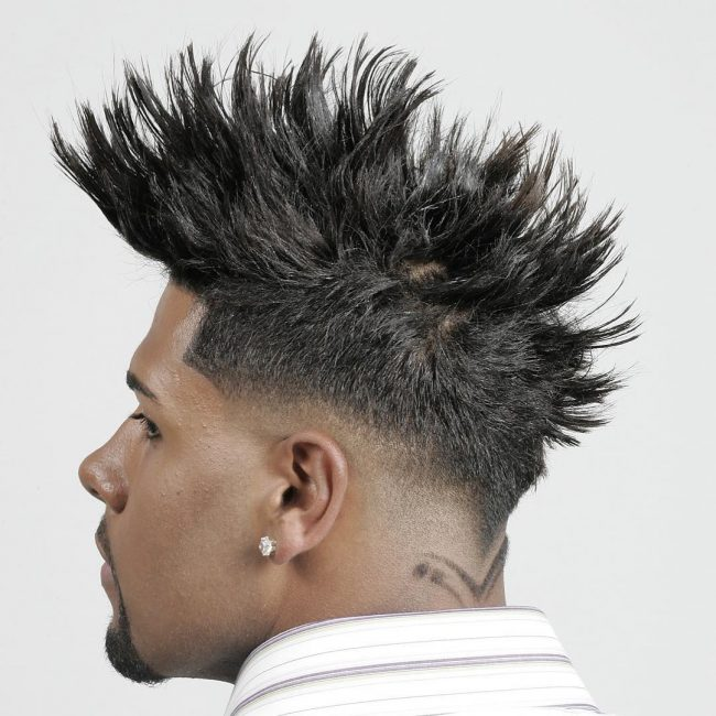 Spiky Top with Faded Sides