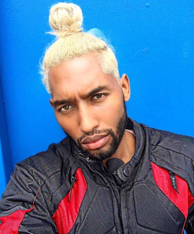 Stylish Blonde Top Knot
