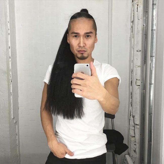 Waist Length Smoky Black Hair