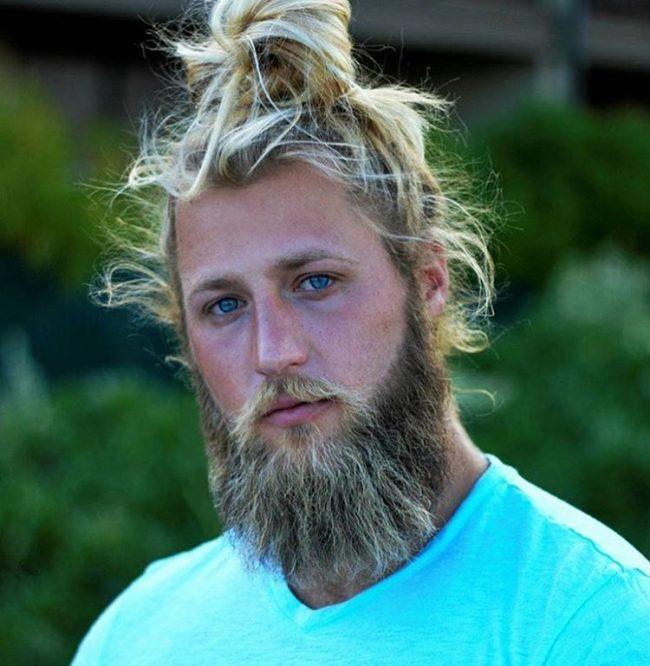 Wild Blonde Hair in Unstructured Knot