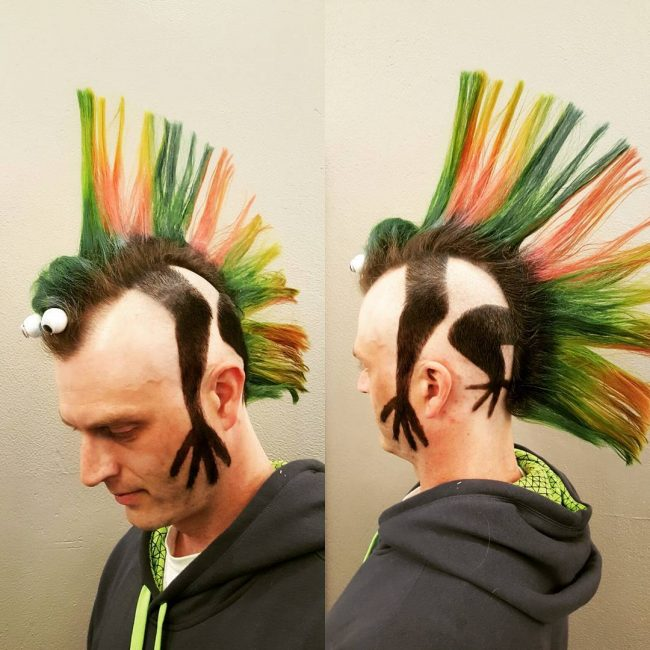 Lizard Mohawk Haircut 40 Unique Line Hairstyles To Help