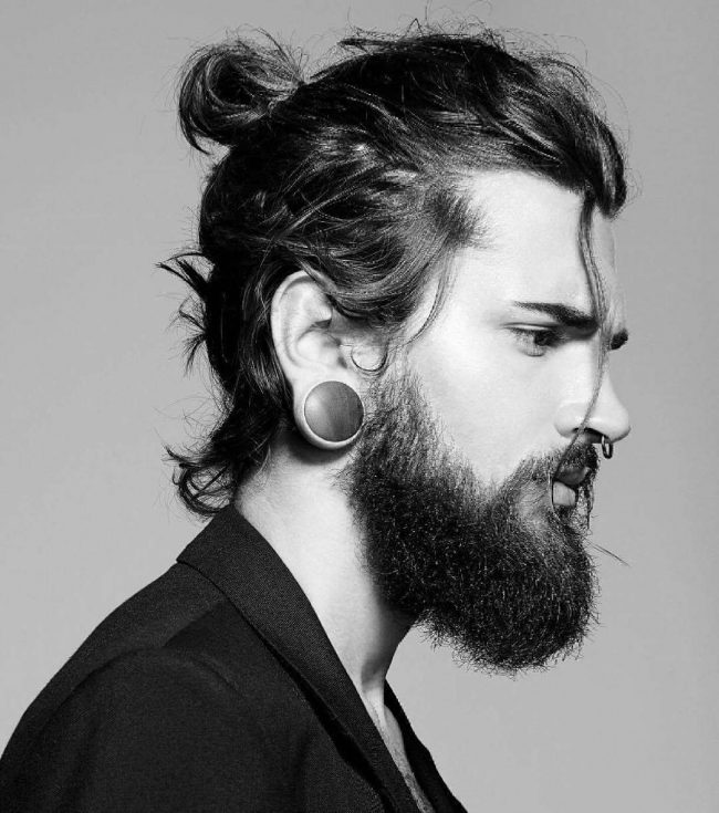 Bearded with Bun