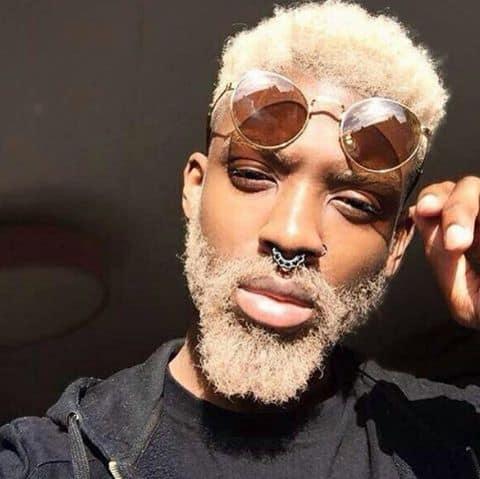 Blond Afro Beard