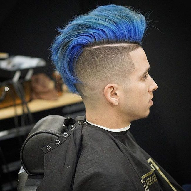 Blue-Turquoise Mohawk
