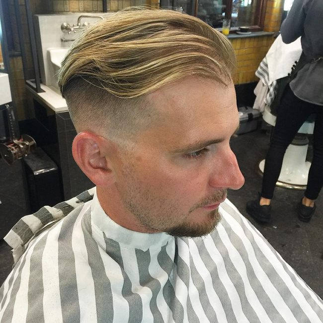 Blunt Cut Layers with Skin Fade