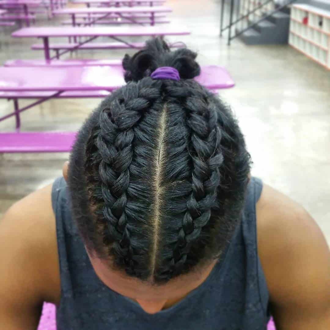 50 Brilliant Braided Buns For Men Double The Style (2018