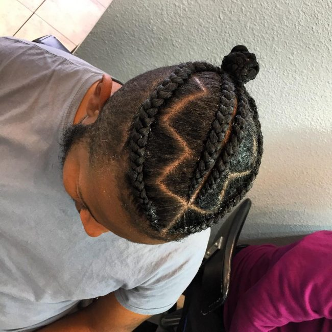 50 Brilliant Braided Buns for Men \u2013 Double The Style (2019)