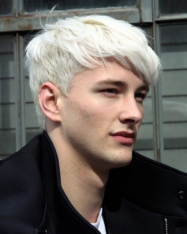 White blonde hair men
