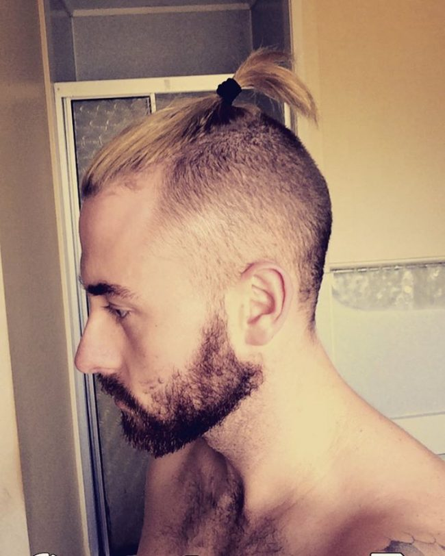 Buzz Cut Sides with Top Bun