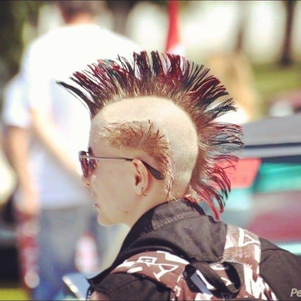 Creative Red Mohawk