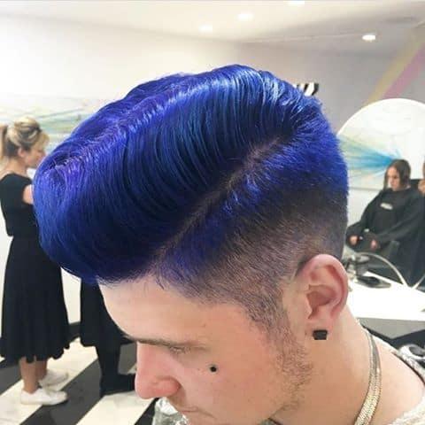 Electric Blue Pompadour