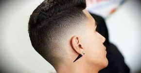 Fade Cut with Stylish Pomp