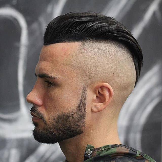 High Bald Fade in Mohawk