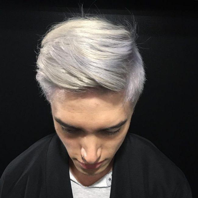 Layered Silver Gray Bangs